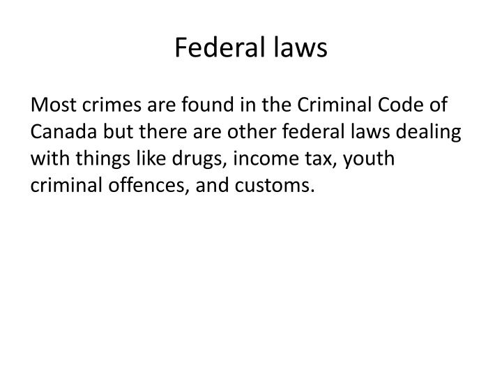 Federal laws