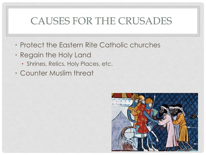 Causes for the Crusades