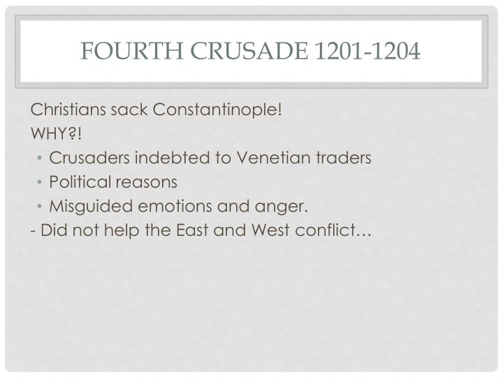 Fourth Crusade 1201-1204