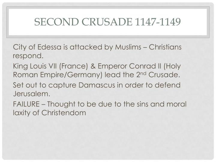 Second Crusade 1147-1149