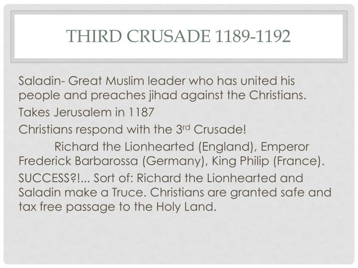 Third Crusade 1189-1192