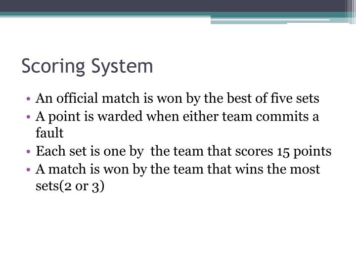 Scoring System