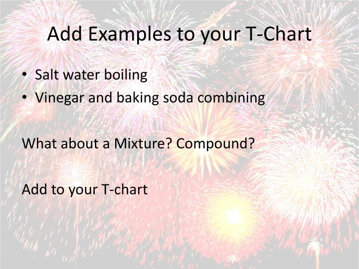 Add Examples to your T-Chart