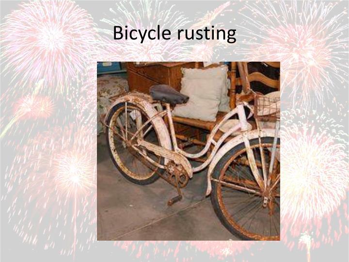 Bicycle rusting