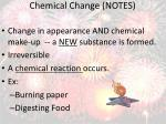 chemical change notes