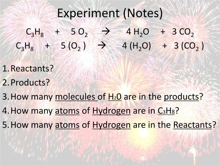 Experiment (Notes)