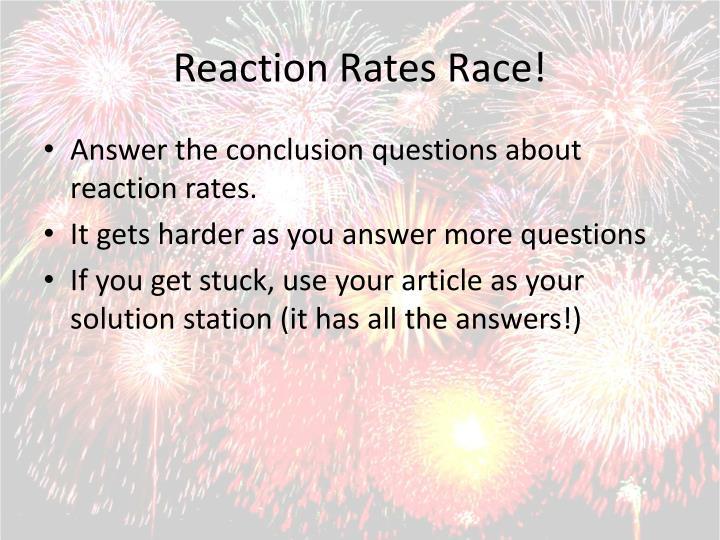 Reaction Rates Race!