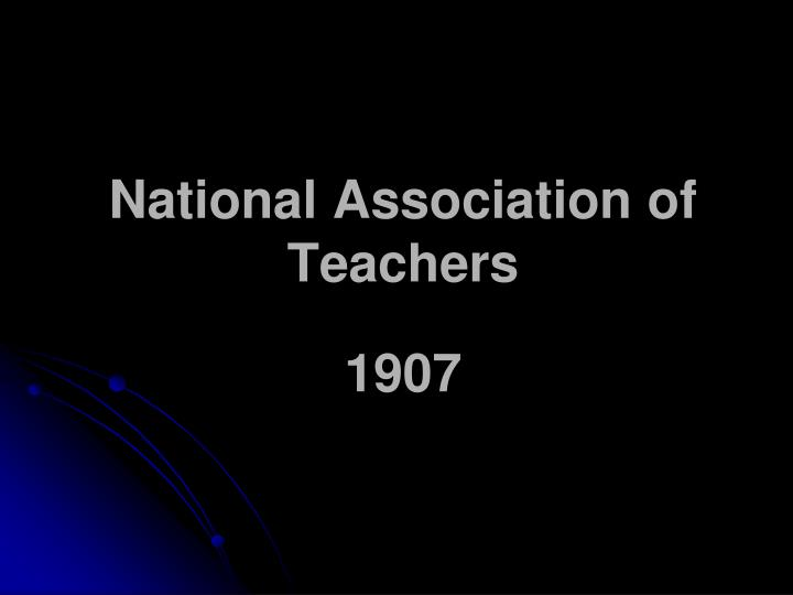 National Association of Teachers
