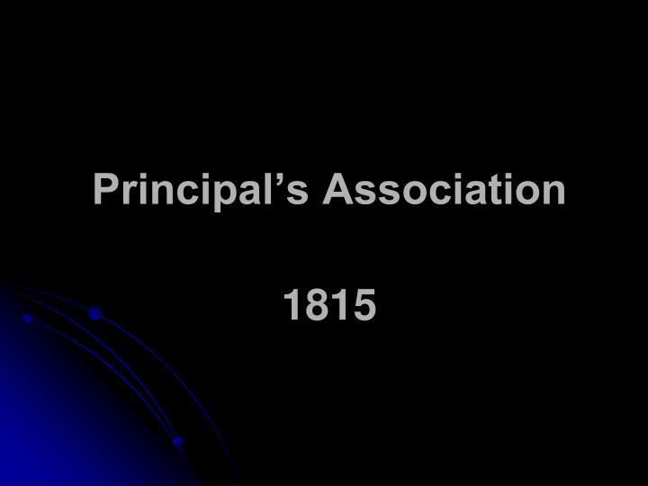 Principal's Association