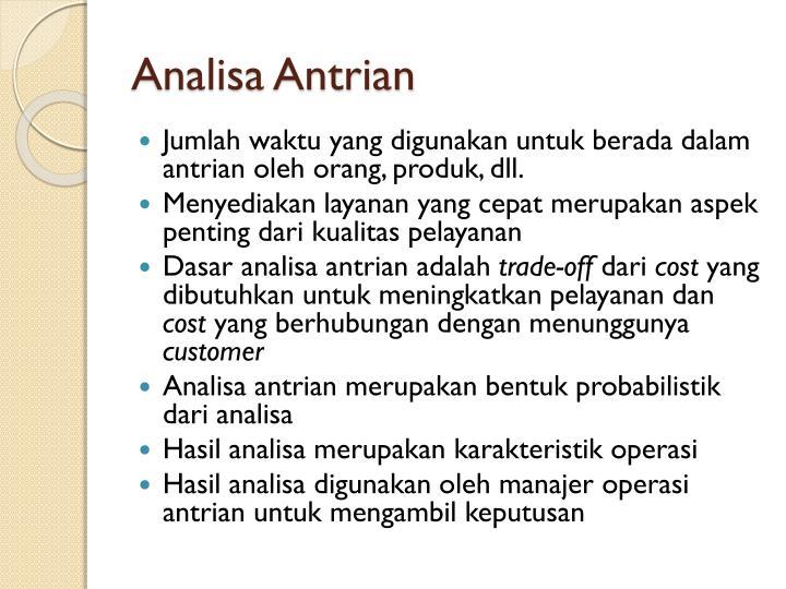 Analisa Antrian