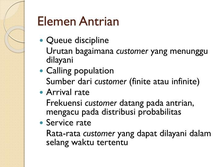 Elemen Antrian