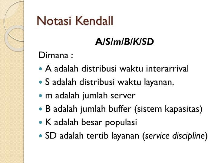 Notasi Kendall
