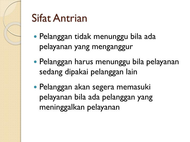Sifat antrian