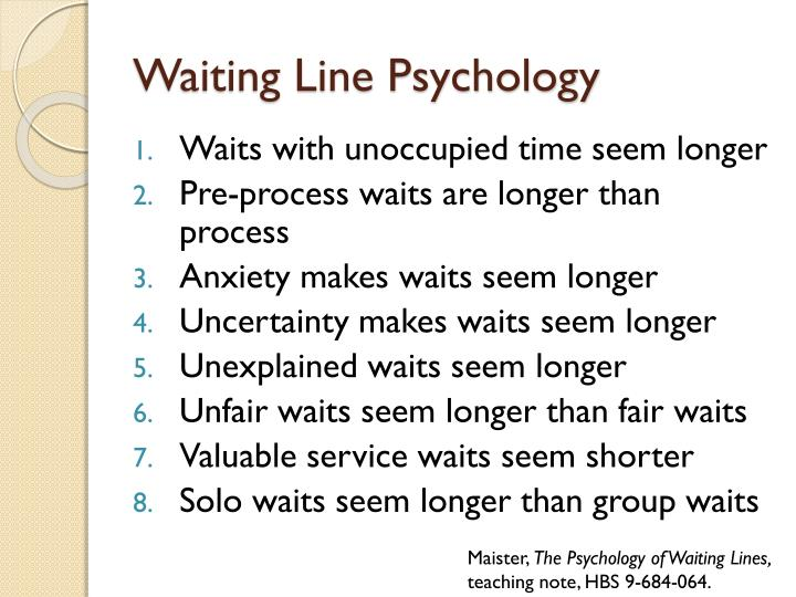 Waiting Line Psychology