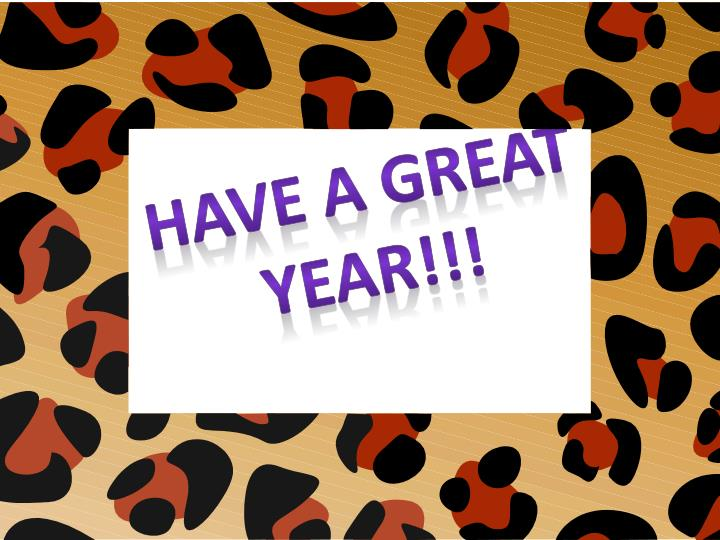 Have a great year!!!