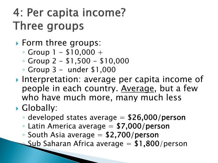 4: Per capita income?