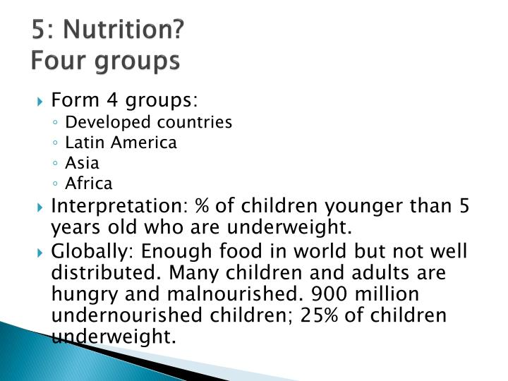 5: Nutrition?