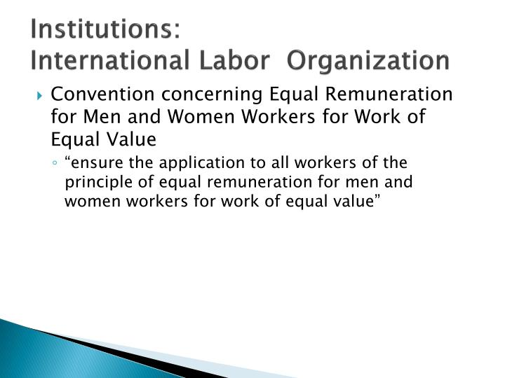 Institutions international labor organization