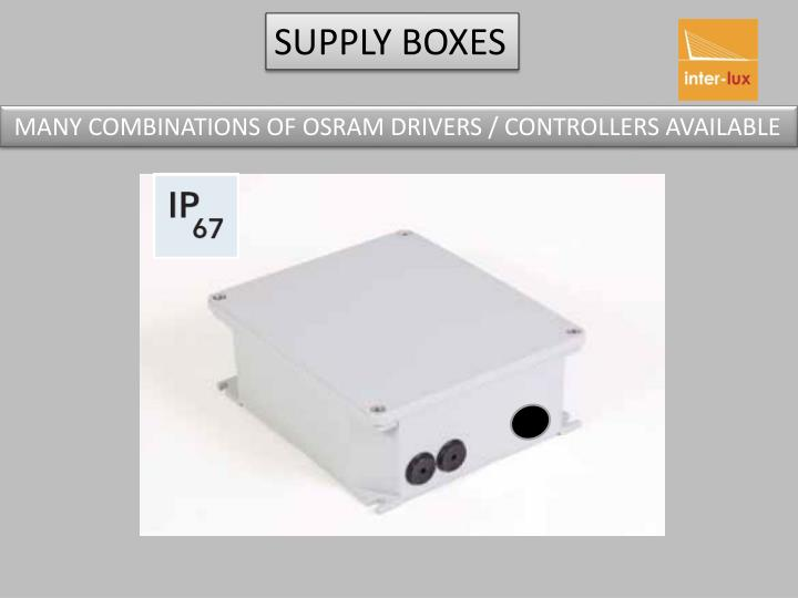 SUPPLY BOXES