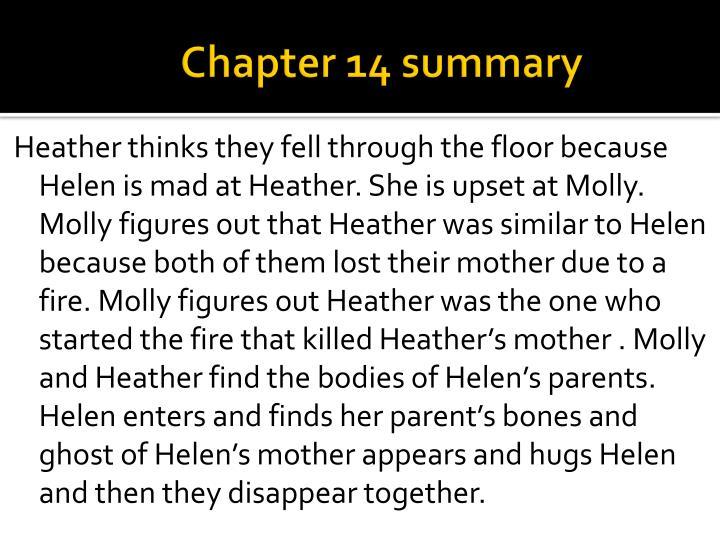 Chapter 14 summary