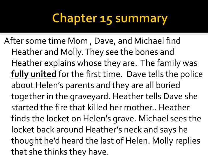 Chapter 15 summary