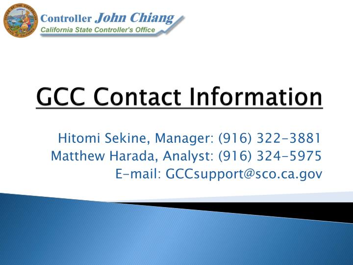 GCC Contact Information