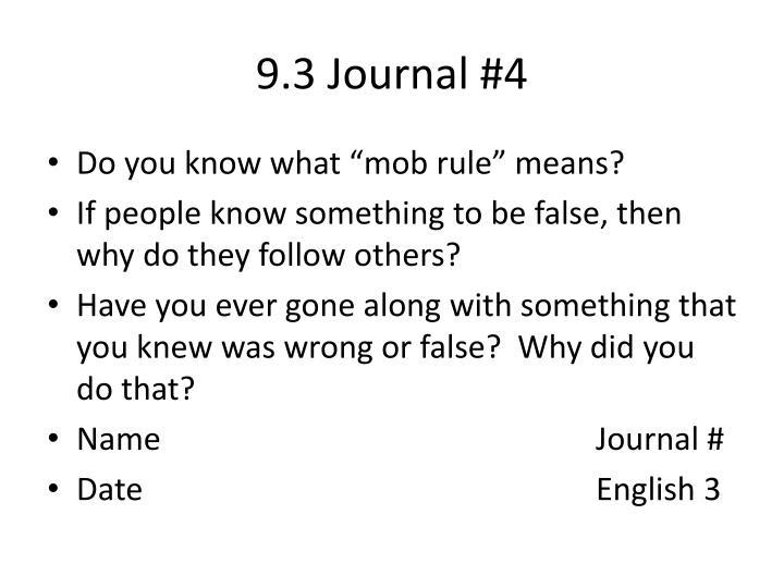 9.3 Journal #4