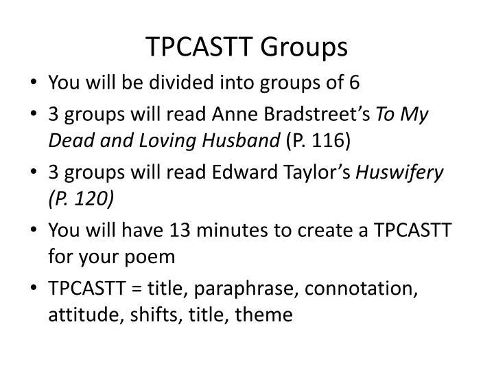 TPCASTT Groups