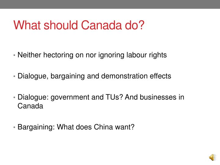 What should Canada do?