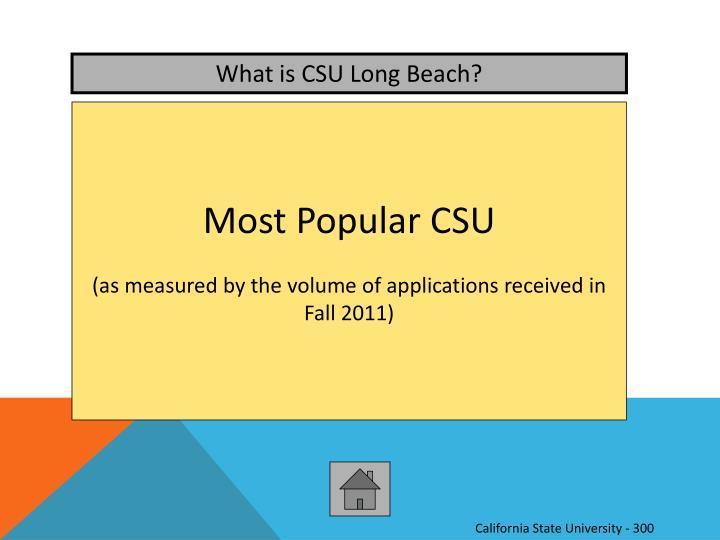 What is CSU Long Beach?