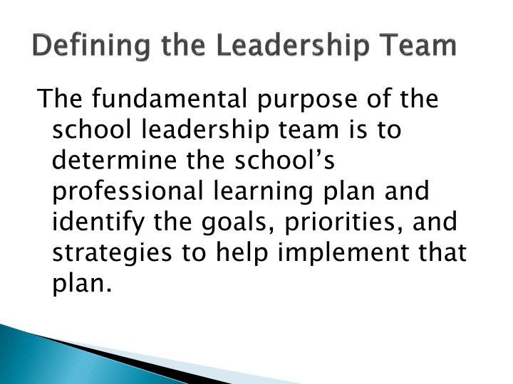 Defining the Leadership Team