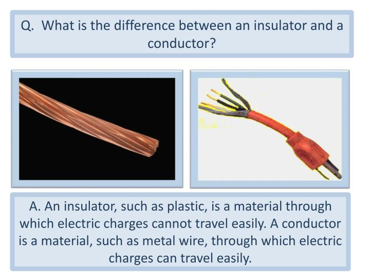 Q.  What is the difference between an insulator and a conductor?