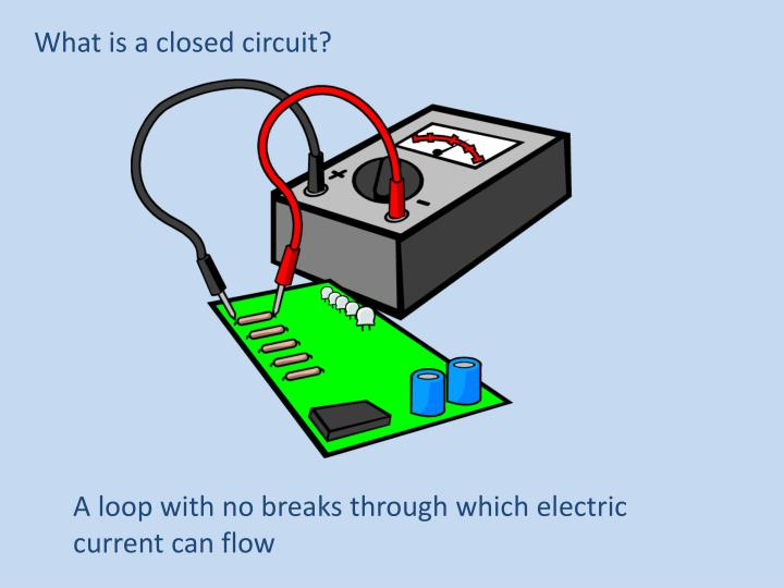 What is a closed circuit?