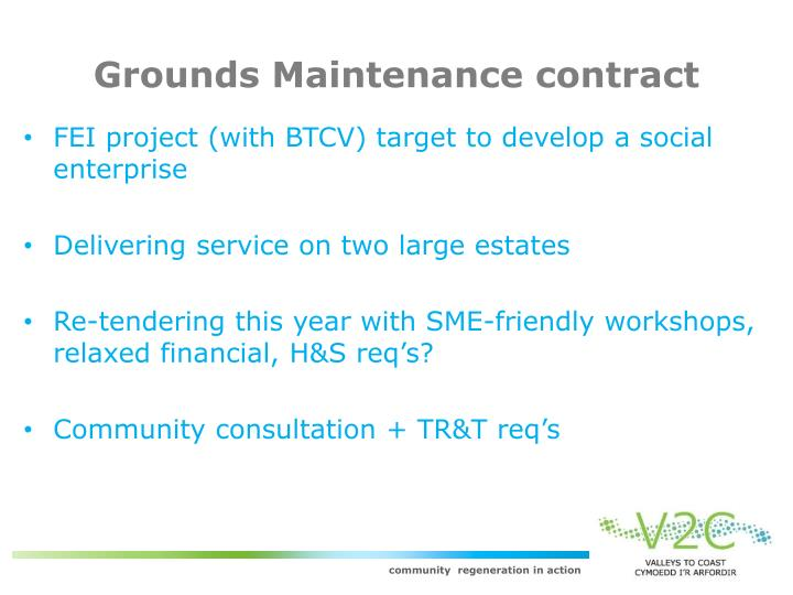 Grounds Maintenance contract