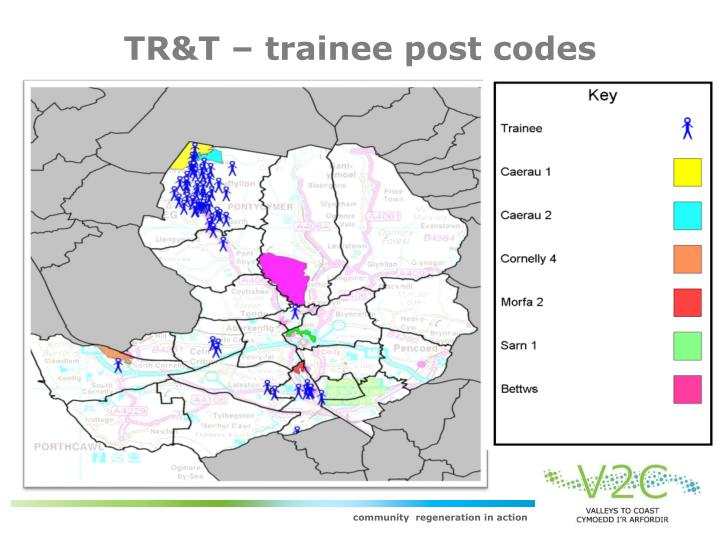 TR&T – trainee post codes