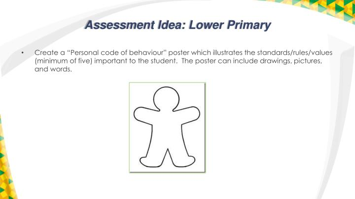 Assessment Idea: Lower Primary