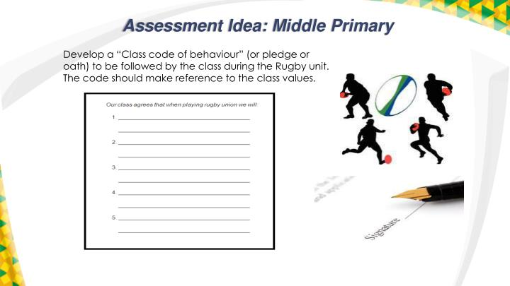 Assessment Idea: Middle Primary
