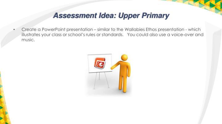Assessment Idea: Upper Primary