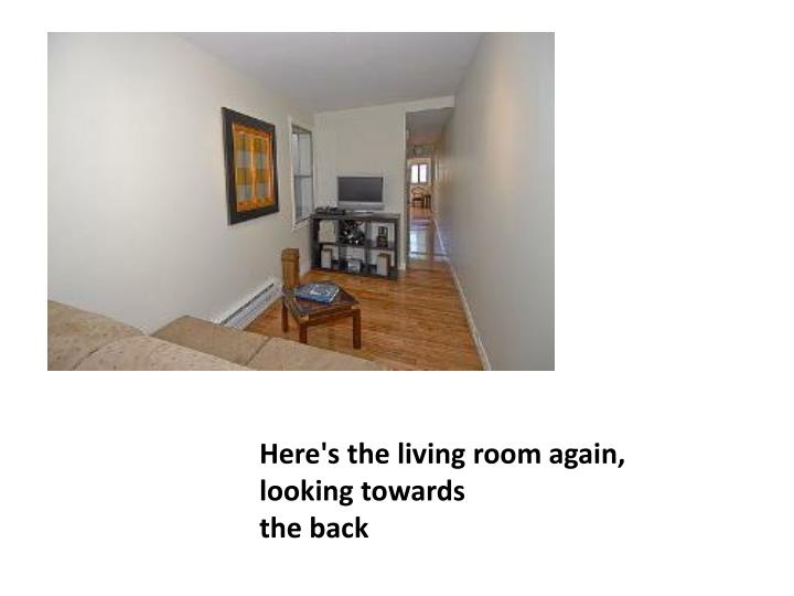 Here's the living room again, looking towards