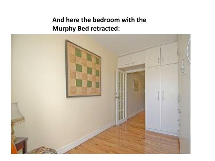 And here the bedroom with the Murphy Bed retracted: