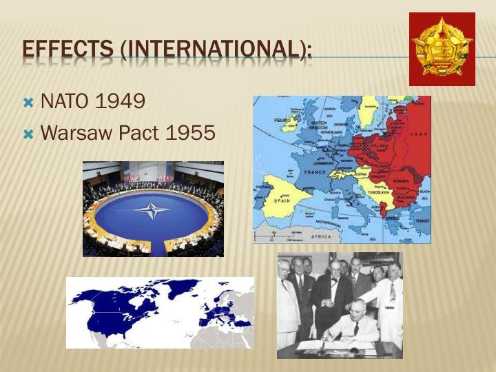cold war causes effects Causes and effects of the cold war the cold war, though never involving any  fighting on either side, resulted in one of the biggest scares the us society and.