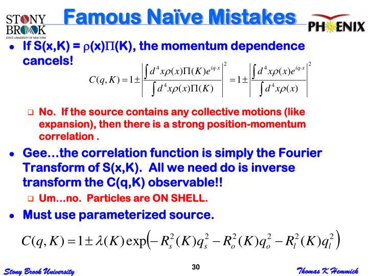 Famous Naïve Mistakes