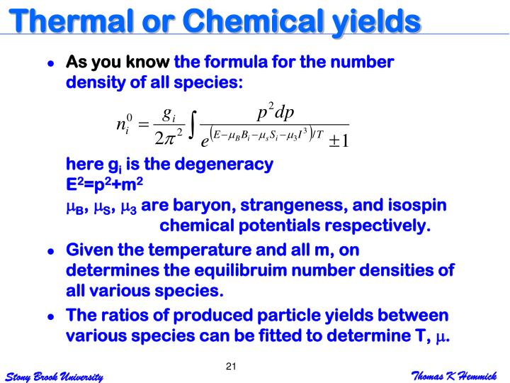 Thermal or Chemical yields