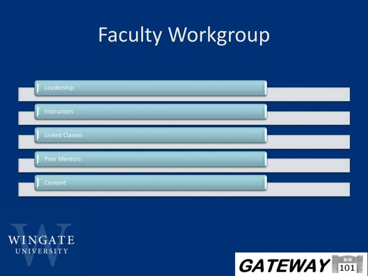 Faculty Workgroup