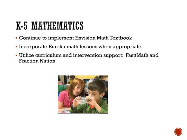 K-5 Mathematics