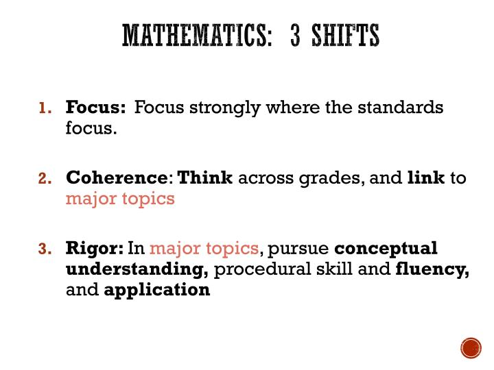 Mathematics:  3 shifts