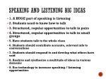 speaking and listening big ideas