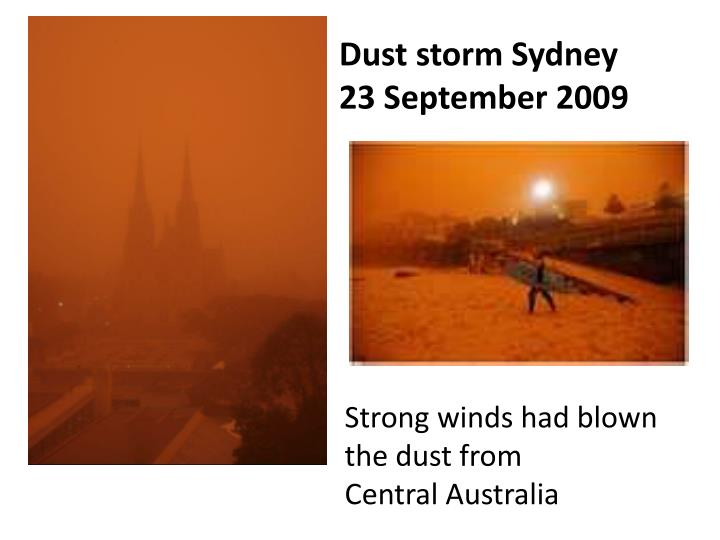 Dust storm Sydney
