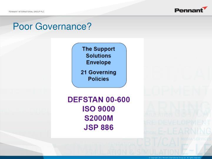 Poor Governance?