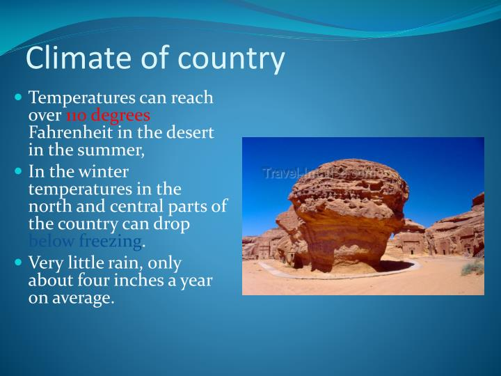 Climate of country